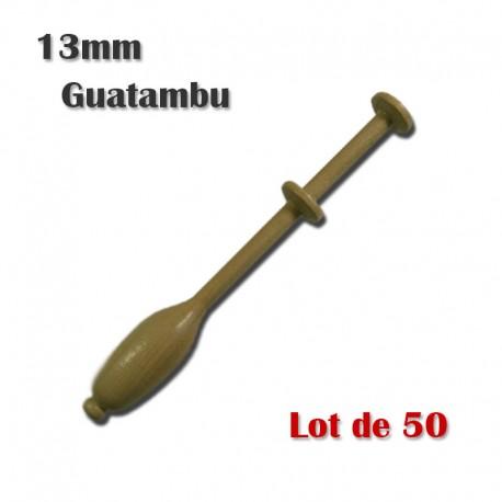 FUSEAUX 13 mm GUATAMBU LOT DE 50