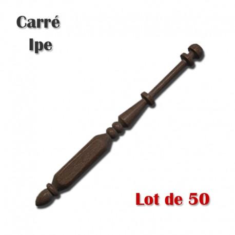 FUSEAUX CARRES IPE LOT DE 50