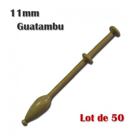 FUSEAUX 11 mm GUATAMBU LOT DE 50