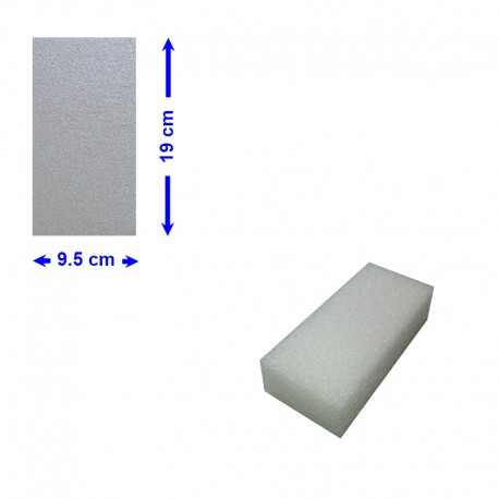 BLOC POLYETHYLENE 19 X 9.5 X 5 cm